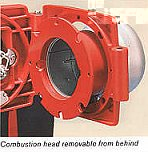 hinged combustion head